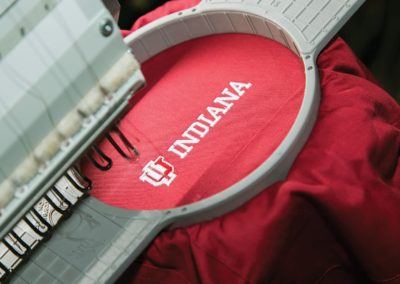 University of Indiana embroidery