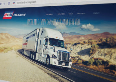 h and m trucking website