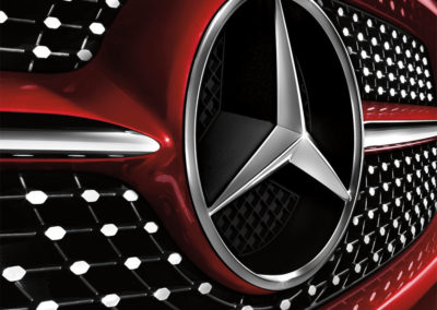 mercedes benz car grill
