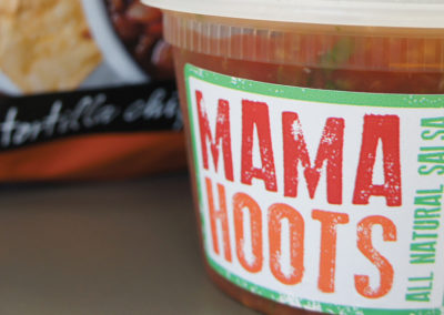 mama hoots salsa packaging