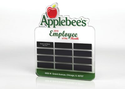 applebees award plaque